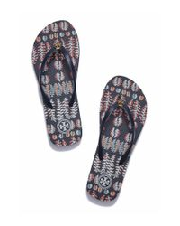 Tory Burch - Blue Thin Flip-flop - Lyst