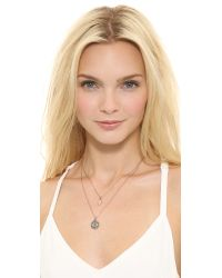 Juicy Couture - Metallic Pave Evil Eye Chain Necklace Rose Gold - Lyst