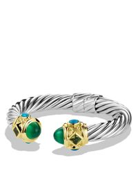 David Yurman   Metallic Renaissance Bracelet With Green Onyx, Peridot & Gold   Lyst