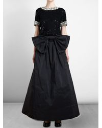 Ashish - Black Sequinned Jewelled Top - Lyst