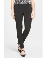 Vince Camuto | Black Side Zip Skinny Pants | Lyst