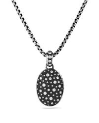 David Yurman | Metallic Midnight Mélange Oval Pendant With Diamonds | Lyst