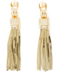 Lanvin - Metallic Tassel Pendant Earrings - Lyst