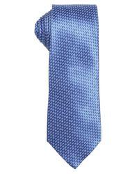 Ermenegildo Zegna - Blue Silk Pattern Printed Tie for Men - Lyst