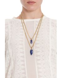 Isabel Marant | Blue Saul Arrow Drop Necklace | Lyst