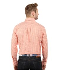 Vineyard Vines | Orange Bay Road Gingham Slim Tucker Shirt for Men | Lyst