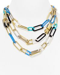 Marc By Marc Jacobs | Blue Ferus Bubble Chain Statement Necklace, 17"