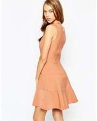 Closet | Orange Closet Panelled Skater Dress | Lyst