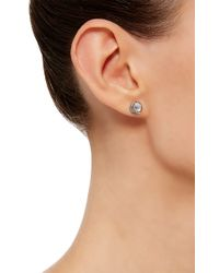 Noor Fares | Gray Blue Moonstone Tilsam Eclipse Stud Earrings | Lyst