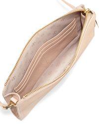 Tory Burch - Natural Robinson Pebbled Wallet Crossbody Bag - Lyst