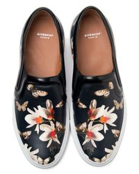 Givenchy - Black Butterfly Print Sneakers - Lyst