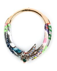 Shourouk | Multicolor Double 'aigrette' Necklace | Lyst