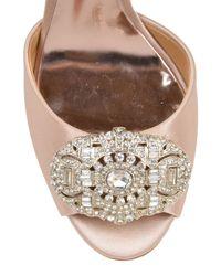 Badgley Mischka   Pink Sari Strappy Satin Evening Shoe   Lyst