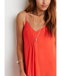 Forever 21 | Embroidered-trim Cami Dress | Lyst