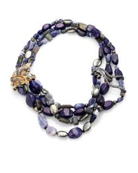 Alexis Bittar | Elements Phoenix Sodalite, Blue Aventurine, Labradorite & Pyrite Tressage Necklace for Men | Lyst
