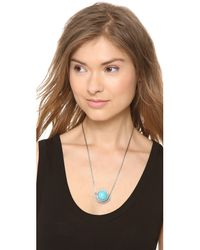 Pamela Love - Blue Sunset Pendant in Antique Silver - Lyst