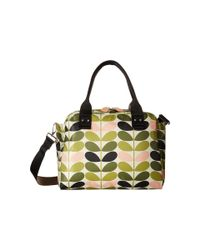 Orla Kiely | Green Tonal Stem Printed Zip Handbag | Lyst