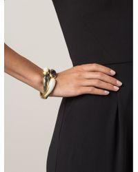 Vaubel - Metallic Oval Stone Hinge Bracelet - Lyst