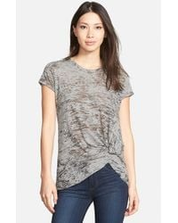 Stateside | Brown Burnout Heather T-Shirt | Lyst