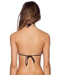 Pilyq - Black Braided Tri Bikini Top - Lyst