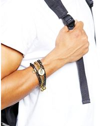 Love Bullets - Gray Lovebullets Multi Bullet Bracelet for Men - Lyst