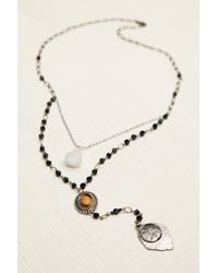 Free People | Black Womens Double Layer Rosary | Lyst