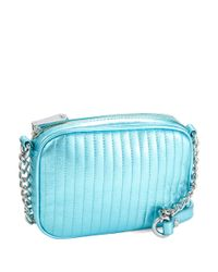 Kenneth Cole | Blue Sloan Street Leather Crossbody Bag | Lyst