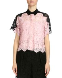 Erdem - Pink Berry Scalloped Lace Shirt - Lyst