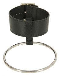Raf Simons | Simple Bracelet With 1 Big Ring Black for Men | Lyst