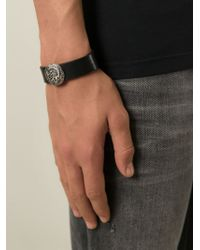 DIESEL - Black 'Astugo' Bracelet for Men - Lyst