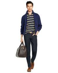 Polo Ralph Lauren   Blue Fleece Shawl Cardigan for Men   Lyst