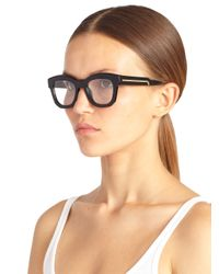Stella McCartney | Black Square 50Mm Optical Glasses | Lyst