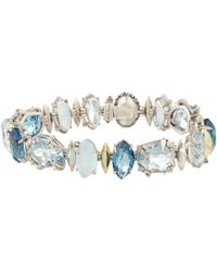 Alexis Bittar Fine | Midnight Blue Topaz Marquis Tennis Bracelet for Men | Lyst