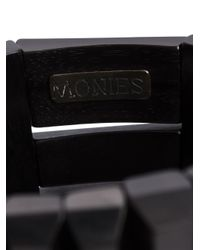 Monies - Black Facet Beads Bracelet - Lyst
