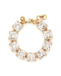 J.Crew | Metallic Crystal Cube Bracelet | Lyst
