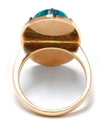 Andrea Fohrman | Blue Turquoise Chrysocolla Diamond Celestial Night Ring | Lyst