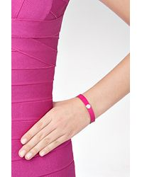 Marc By Marc Jacobs - Skinny Enamel Disc Bangle in Pop Pink - Lyst