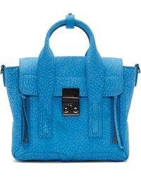 3.1 Phillip Lim - Azure Blue Mini Pashli Satchel - Lyst