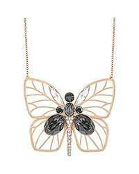 Swarovski | Black Bloom Large Butterfly Pendant | Lyst