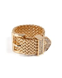 Aurelie Bidermann | Metallic Diamond Belt Ring | Lyst