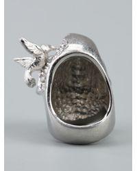 Alexander McQueen - Metallic Skull Bird Ring - Lyst