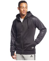 Adidas | Men's Black Ice Full-zip Hoodie for Men | Lyst