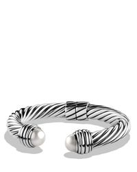 David Yurman | Metallic Cable Classics Bracelet With Pearls | Lyst