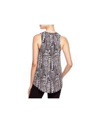 Joie - White Aruna Feather Print Silk Tank - Lyst