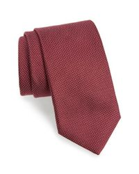 Eton of Sweden - Red Microdot Silk Tie for Men - Lyst