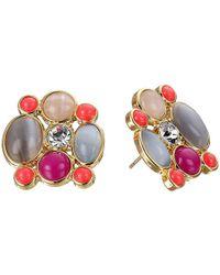 kate spade new york - Multicolor Bashful Blossom Statement Studs Earrings - Lyst