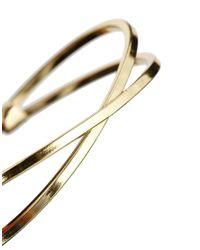 ASOS - Metallic Fine Cross Bangle Bracelet - Lyst