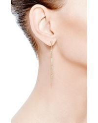 Eva Fehren Metallic Five Fringe Earrings in 18k Yellow Gold and Pale Champagne Diamonds