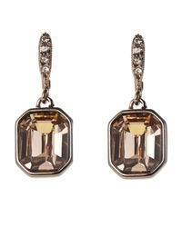 Givenchy - Metallic Rose Gold-Tone Square Earrings - Lyst