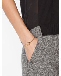 Miansai - Metallic Mini Fish Hook Bangle - Lyst